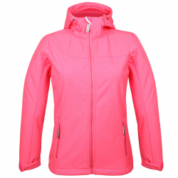 Dámska turistická softshellová bunda AUTHORITY-MARTENA pink