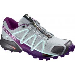 Dámska trailová obuv SALOMON-SPEEDCROSS 4 W Quarry/Acai/Fair Aqu