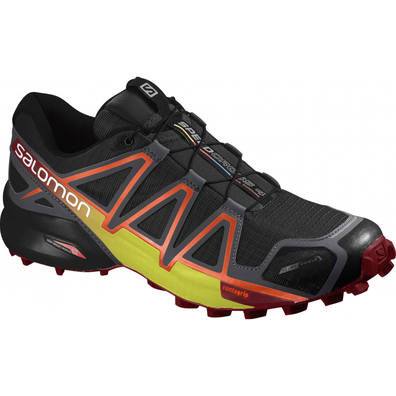 Pánska trailová obuv SALOMON-SPEEDCROSS 4 CS Bk Magnet Red Dalhi - Pánska 5646389cd2c