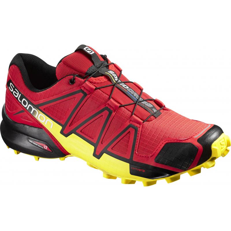 3354e8614a37 Pánska trailová obuv SALOMON-SPEEDCROSS 4 RADIANT RED Black YE - Pánska  trailová