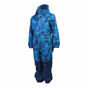 Chlapčenský zimný overal COLOR KIDS-Klement padded coverall-Blue dark