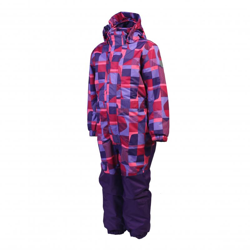 Dievčenský zimný overal COLOR KIDS-Klement padded coverall-Pink dark -  Detský lyžiarsky overal b97d912fe76