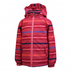 Dievčenská lyžiarska bunda COLOR KIDS-Saigon padded jacket AOP-Red dark