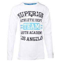 Chlapčenské tričko s dlhým rukávom AUTHORITY-TARKON B white