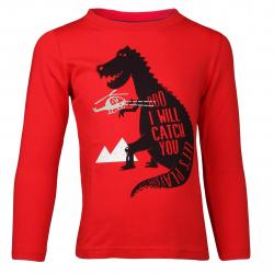 Chlapčenské tričko s dlhým rukávom AUTHORITY-TARKON B red