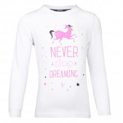 Dievčenské tričko s dlhým rukávom AUTHORITY-TARKONA G white