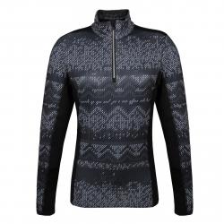 Dámske tričko s dlhým rukávom AUTHORITY-DRY4W P zip black