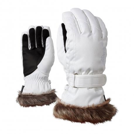 Dámske lyžiarske rukavice ZIENER-KIM lady glove-801117-585-White