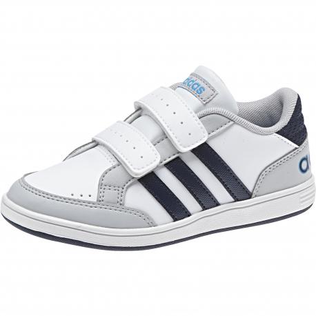 ADIDAS NEO-HOOPS CMF C FTWWHT/CONAVY/SOLBLU - Detské tenisky značky adidas neo so zapínaním na suchý zips.