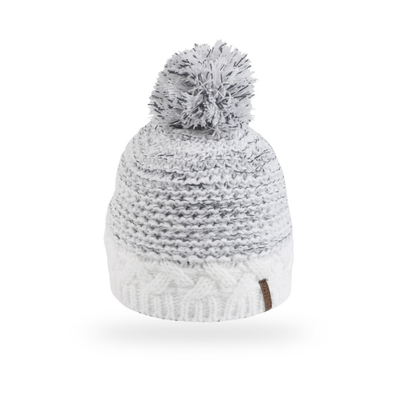 28b0d6d67 Dámska zimná čiapka ALICE DC1729 WHITE - Dámska pletená čiapka s brmbolcom  značky Alice v peknom