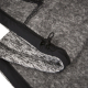NORTHFINDER-NEOEL-Grey - Funkčná pánska mikina pleteného vzhľadu a s použitím technológie zabraňujúcej žmolkovaniu.