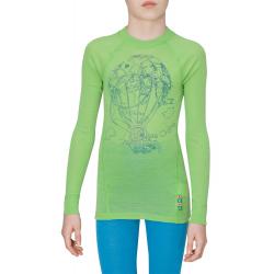 Juniorské termo tričko s dlhým rukávom THERMOWAVE-JUNIOR MERINO-Green