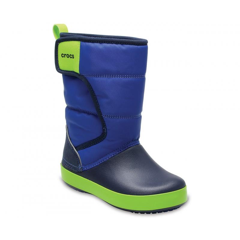 Chlapčenská zimná obuv vysoká CROCS-LodgePoint Snow Boot K BlJ Nvy - Detské  snehule 94b5e102212