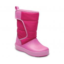 Dievčenská zimná obuv vysoká CROCS-LodgePoint Snow Boot K CPk/PtPk
