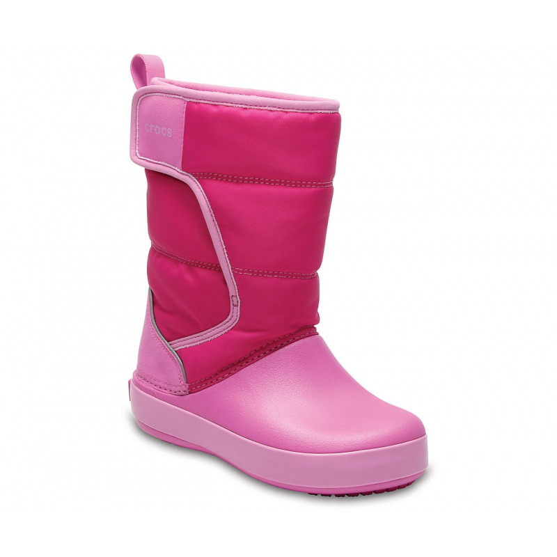 Dievčenská zimná obuv vysoká CROCS-LodgePoint Snow Boot K CPk/PtPk - Detské snehule značky Crocs v peknom modernom dizajne.