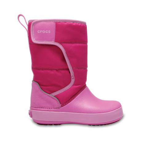 CROCS-LodgePoint Snow Boot K CPk/PtPk - Detské snehule značky Crocs v peknom modernom dizajne.