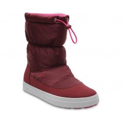 Dámska zimná obuv vysoká CROCS-LodgePoint Shiny Pull-On W Gar/CPk