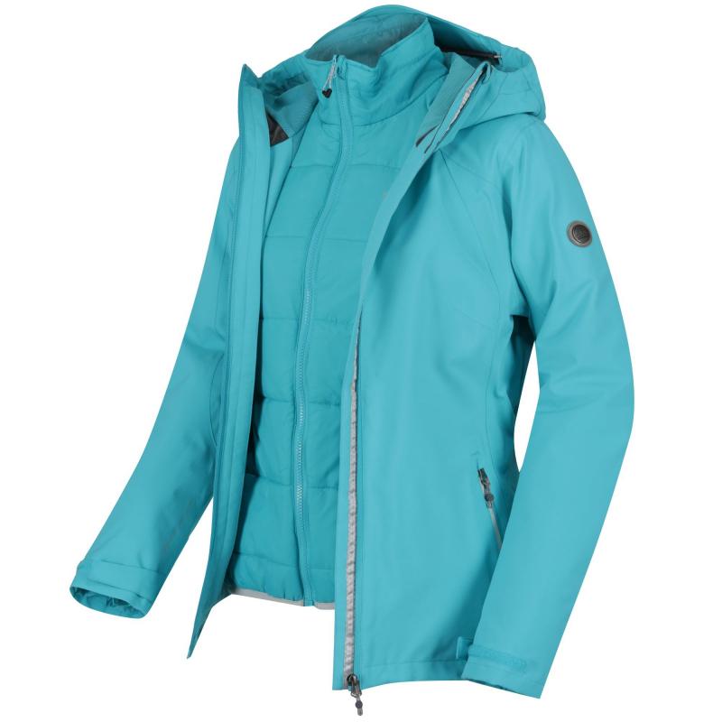 6071d74c0 Dámska turistická bunda REGATTA-Womens Doverton blue - Dámska turistická  bunda značky Regatta v štýlovom