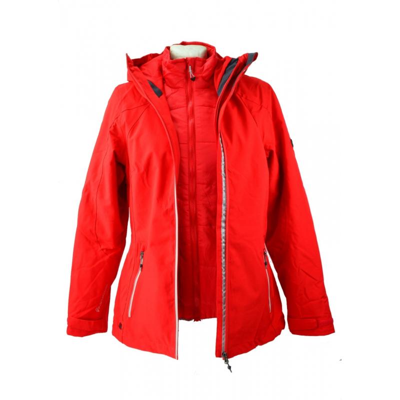 ff4a2d3e67b2 Dámska turistická bunda REGATTA-Womens Doverton red - Dámska turistická  bunda značky Regatta v štýlovom