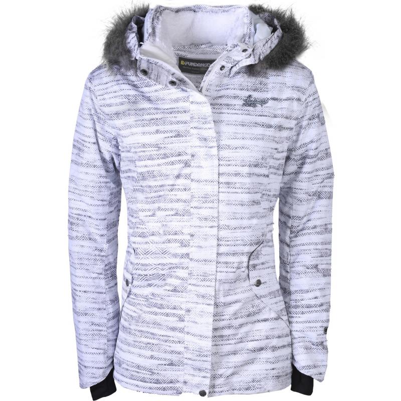 Dámska lyžiarska bunda FUNDANGO-Mistral fur-WOMEN-White - Dámska lyžiarska bunda značky Fundango vo farebnom dizajne.