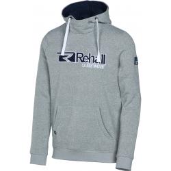 Pánska mikina s kapucňou REHALL EZZY-R Sweat-Hooded-Grey light