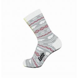 Dámske ponožky EISBÄR EASYLIFE JACQUARD LT GREY/WHITE
