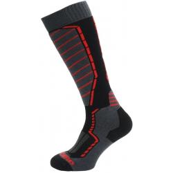 Lyžiarske podkolienky (ponožky) BLIZZARD-Profi ski socks, black/anthracite/red