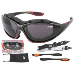 Multifunkčné lyžiarske okuliare KEEN Freeze line - black/bordo