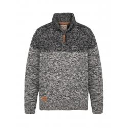 Pánsky sveter VOLCANO-S-CORNELIUS-Grey