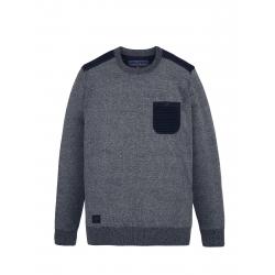 Pánsky sveter VOLCANO-S-LEONIS-Blue