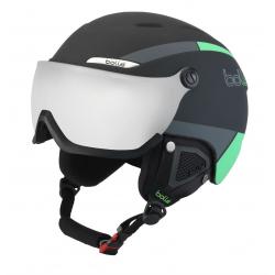 Lyžiarska prilba so štítom BOLLE-BYOND VISOR - Black & Green with Silver Gun visor Cat