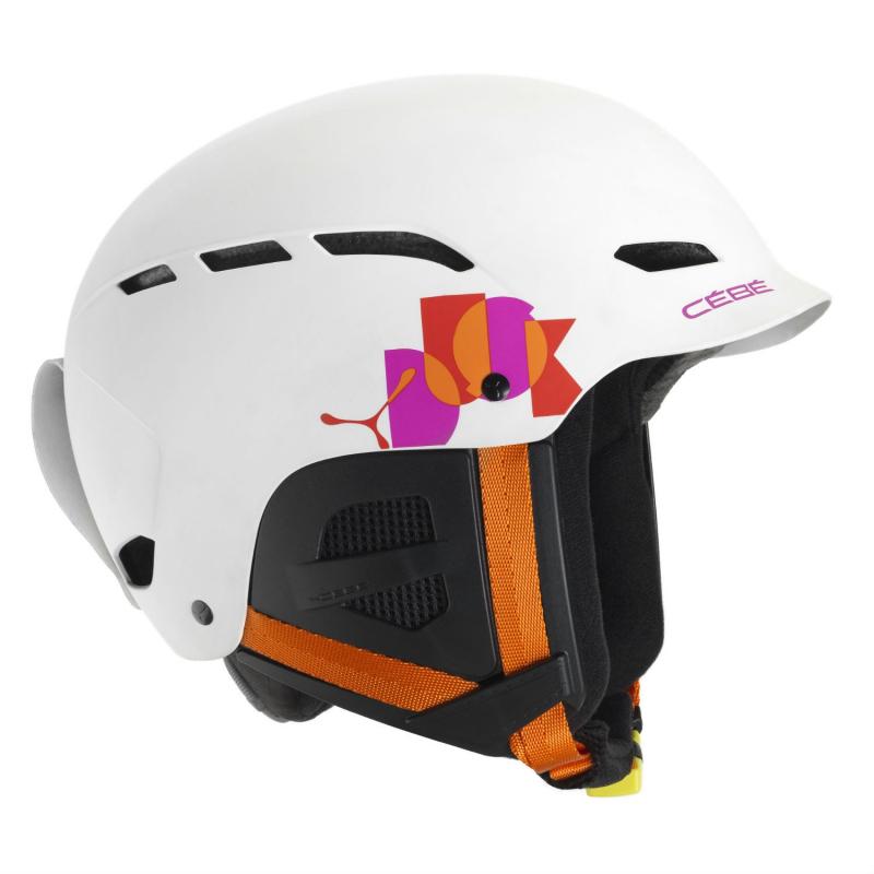 a71953766 Juniorská lyžiarska prilba CÉBÉ-DUSK JUNIOR - Matt White Name - Prilba  značky Cébé určená