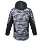 AUTHORITY-CAMO grey - Pánska lyžiarska bunda značky Authority s trendy maskáčovým vzorom v bielo-sivo-čiernom prevedení.