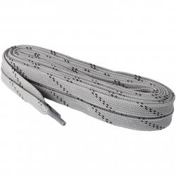 Šnúrky do korčulí PREMIUM voskované 12 mm, 310 cm, šedé MMS