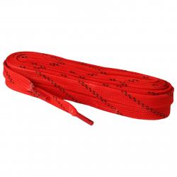 Šnúrky do korčulí PREMIUM voskované 12 mm, 310 cm, červené MMS