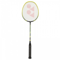 Badmintonová raketa pre profesionálov YONEX NANORAY LIGHTING BLACK/YELLOW 3U 85g MEDIUM