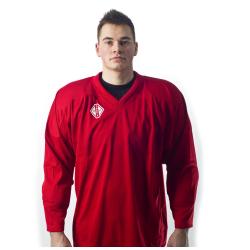 Hokejový dres TACKLA dres Practise ČERVENÝ MMS
