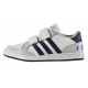 Chlapčenská rekreačná obuv ADIDAS NEO-HOOPS CMF C FTWWHT/CONAVY/SOLBLU - Detské tenisky značky adidas neo so zapínaním na suchý zips.