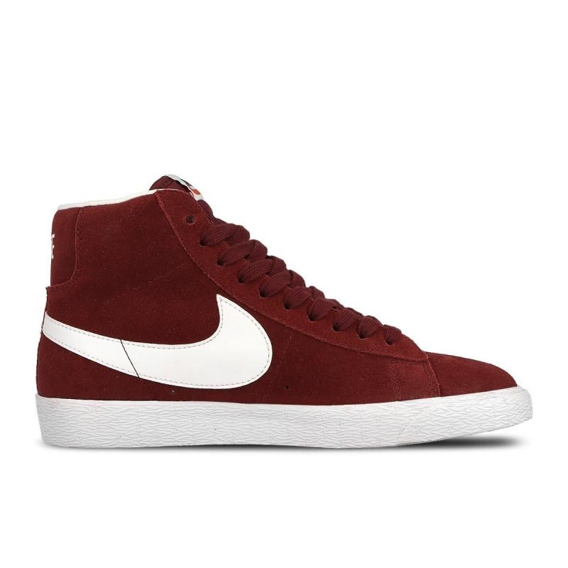 Dámska vychádzková obuv NIKE-Wmns Blazer Mid Suede team red white ebad235688c