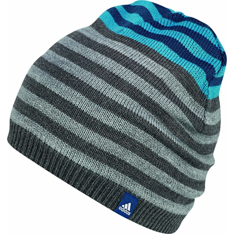 44cd28dca Zimná čiapka ADIDAS-STRIPY BEANIE GREY - Detská čiapka značky adidas.