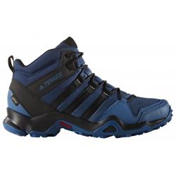 Pánska turistická obuv stredná ADIDAS-TERREX AX2R MID GTX CORBLU/CBLACK/MYSBLU