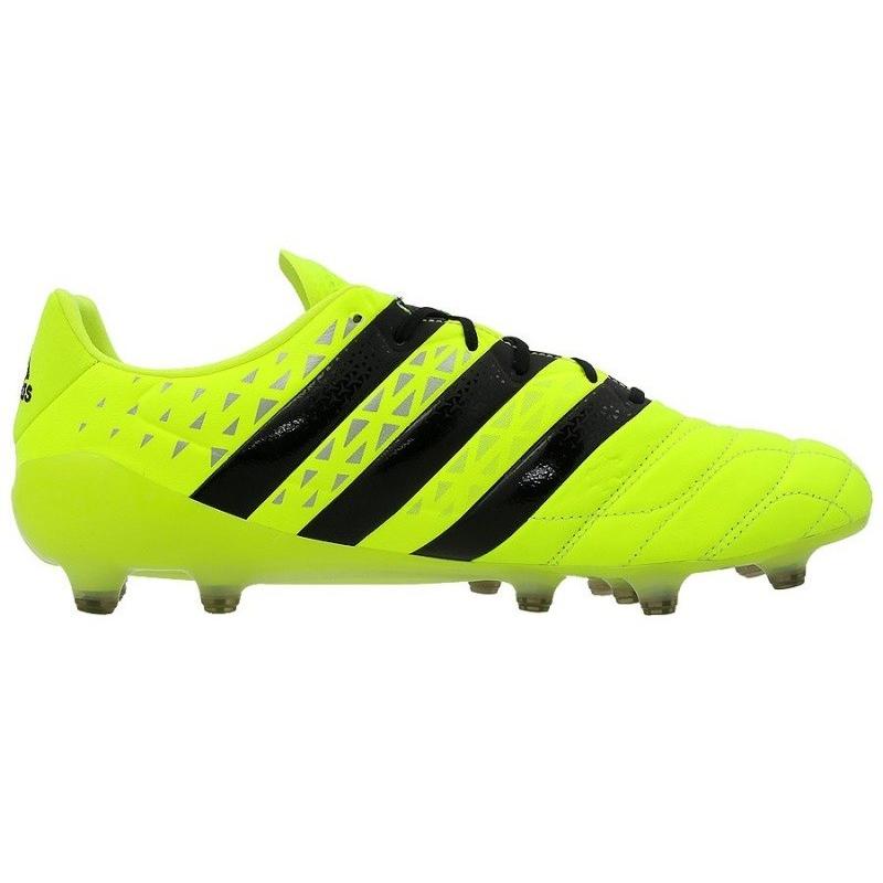 f1e9b81c4c6a1 Pánske futbalové kopačky outdoorové ADIDAS-Ace 16.1 Leather M FG Solar  Yellow/Black Men