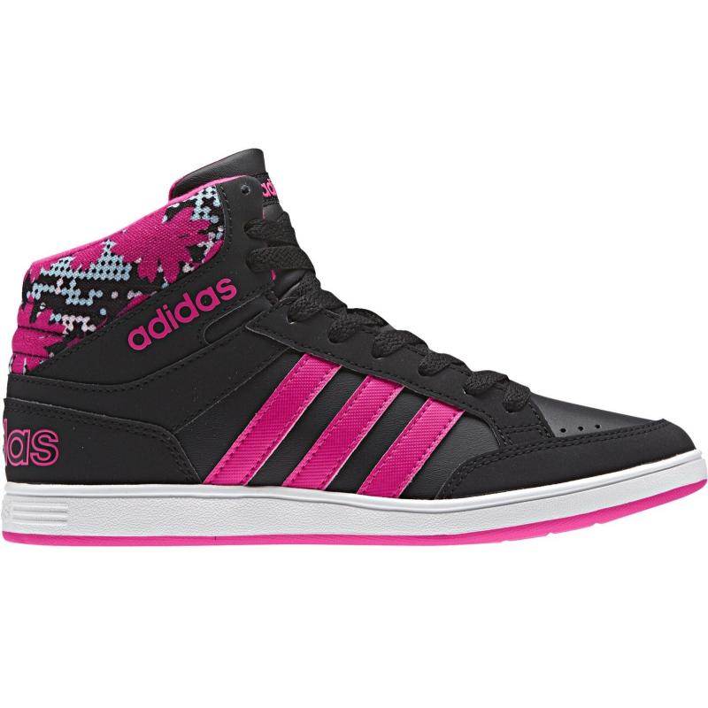 b10a2eea7 Juniorská rekreačná obuv ADIDAS-HOOPS MID K CBLACK/SHOPIN/ICEPNK -  Juniorská rekreačná