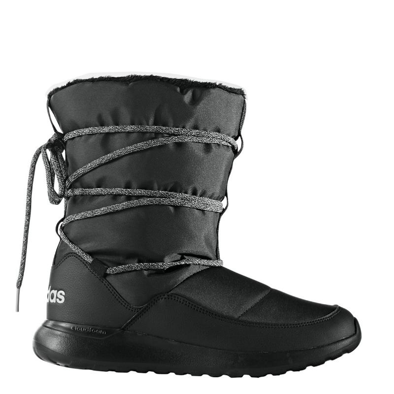 Dámska zimná obuv vysoká ADIDAS NEO-CF RACER WTR BOOT W CBLACK GRETWO SILVMT bc2afc3af88