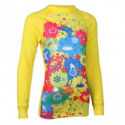 Juniorské termo tričko s dlhým rukávom THERMOWAVE-JUNIOR ACTIVE-Yellow