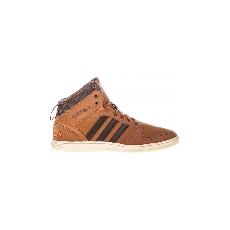Juniorská zimná obuv stredná ADIDAS NEO-HOOPS WTR MID K Brown - Juniorská obuv značky adidas vo vyššom strihu.