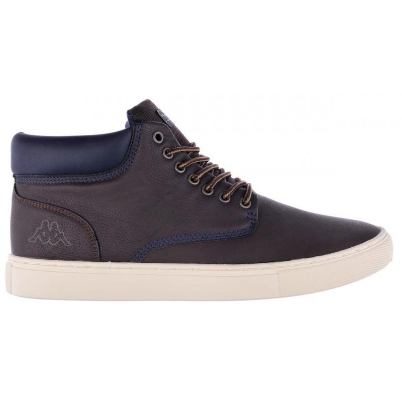 Pánska rekreačná obuv KAPPA-FOUTEM brown - Pánska vychádzková obuv značky Kappa v klasickom nadčasovom dizajne.