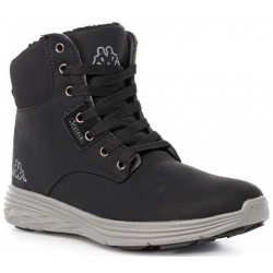 Dámska zimná obuv stredná KAPPA OAK II BLACK/GREY