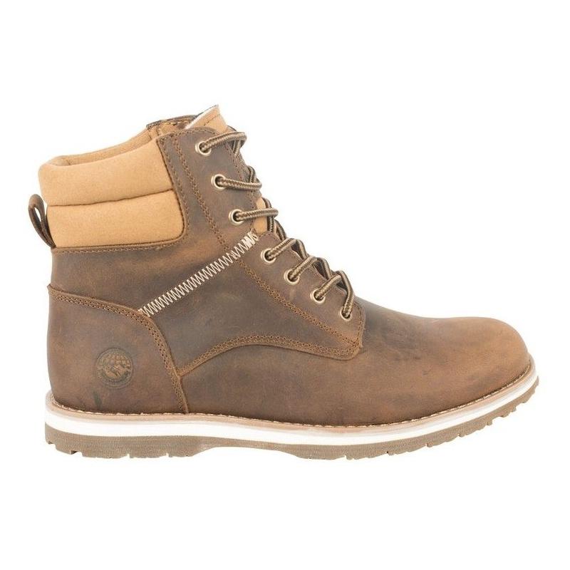 71d4b663bd447 Pánska zimná obuv stredná ALPINE CROWN WOLVERINE - Brown - Pánska  vychádzková obuv značky Alpine crown