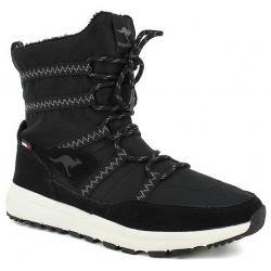 Dámska zimná obuv stredná KangaROOS-Tiska - black